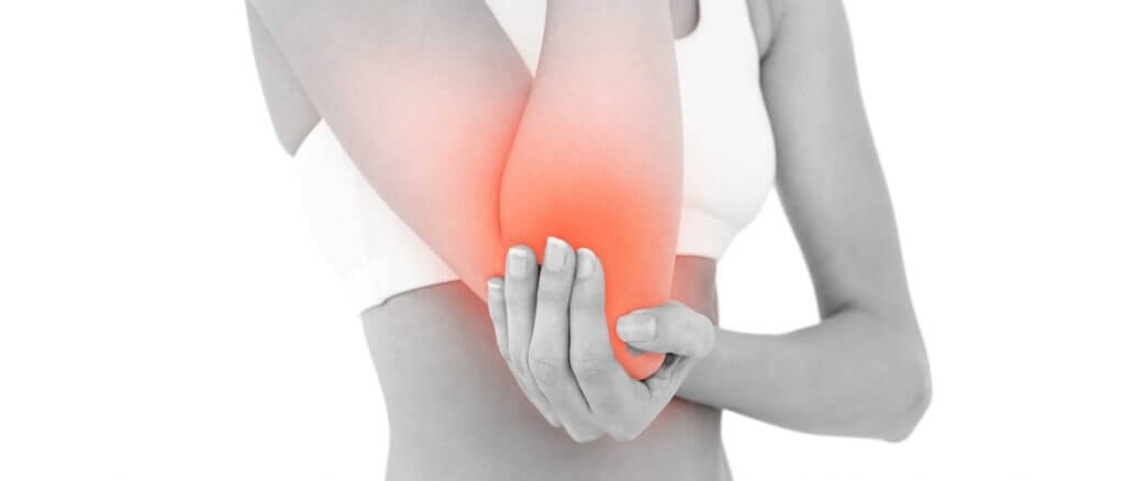 Tennis elbow pain sign